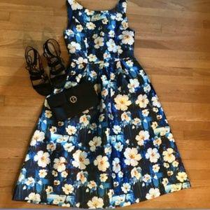 NWOT Floral Fit & Flare Floral Dress MidiLength